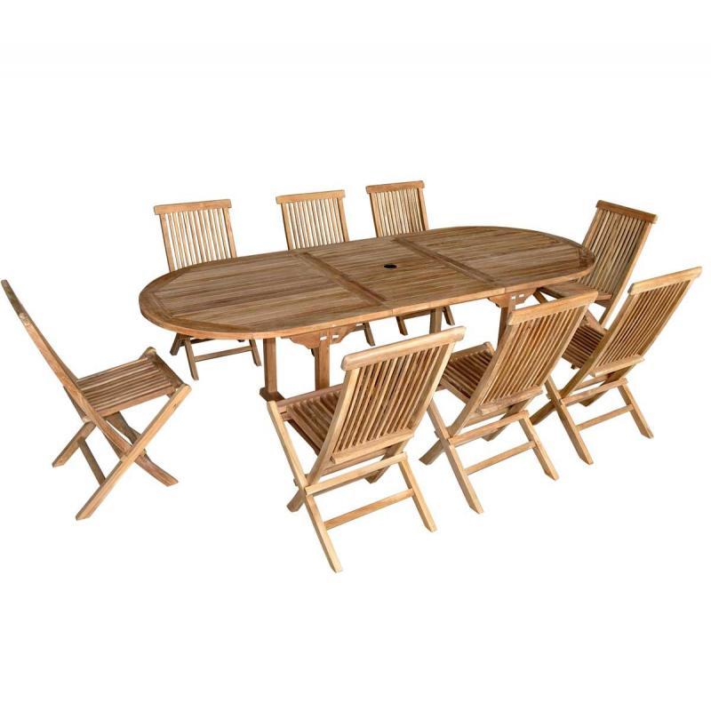 Salon de jardin en teck grade a des id es int ressantes pour la conception de for Housse table salon de jardin