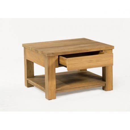table basse en teck Huyana de salon 70 x 70 cm