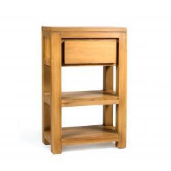 meuble console en teck massif avec tiroir - Enola 50 cm