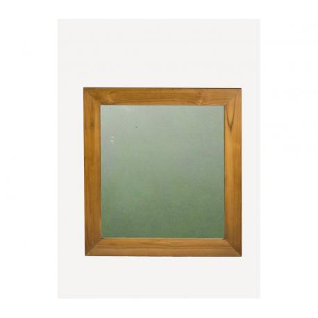 Miroir en teck premium massif 75 cm x 80 cm