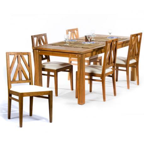 table de salon en bois de teck 180x92 cm