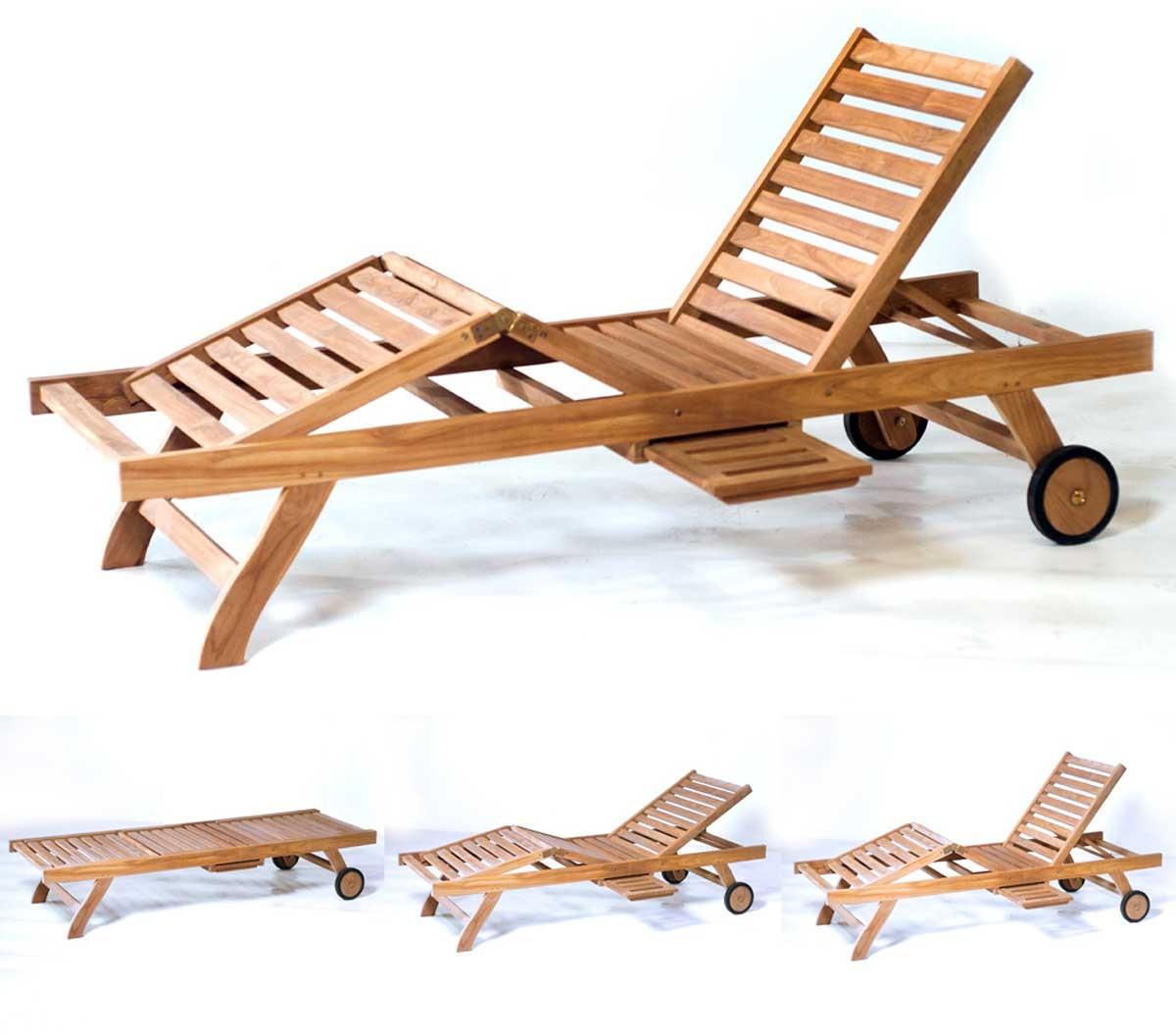 Transat bain de soleil en teck pas cher chaise longue for Chaise longue transat solde