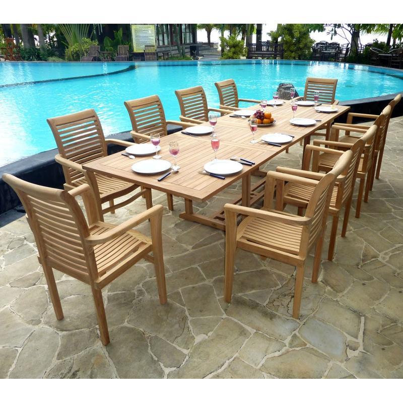 Salon borneo Raja ensemble avec une grande table et 10 larges