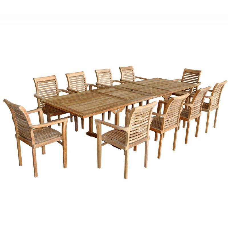 Salon de jardin en teck brut xxl borneo raja - Maison mobilier et design