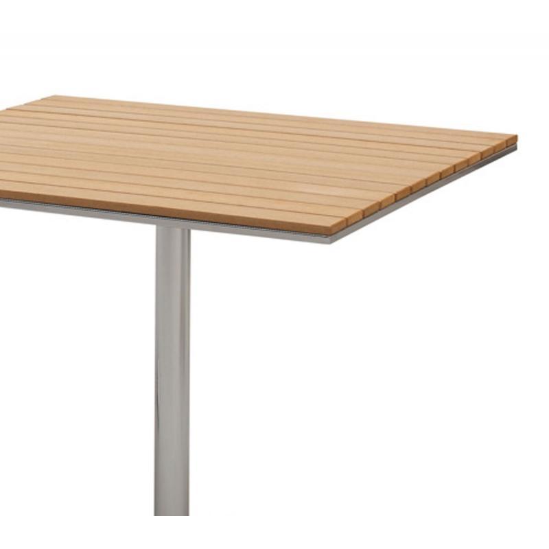 table bistrot 90 m x 90 cm aluminium polywood simple d 39 entretien et contemporain. Black Bedroom Furniture Sets. Home Design Ideas