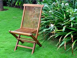 chaise de jardin huile