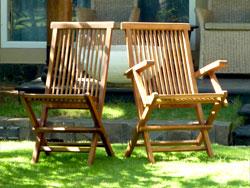 chaise et fauteuils en teck