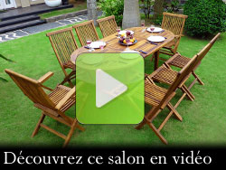 salon de jardin en teck 8 places
