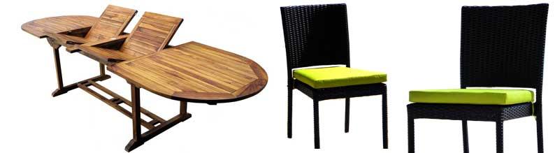 salon de jardin suma en teck et resine 10 chaises