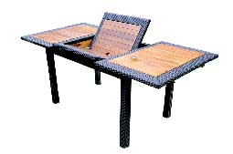 table de jardin teck et resine Lombok