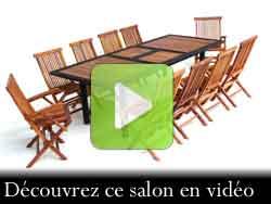 vidéo de votre salon en teck