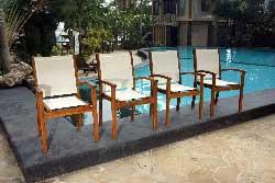 fauteuils de jardin en batyline