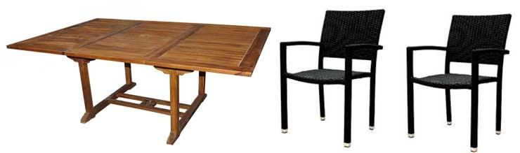 ensemble table et fauteuil de jardin