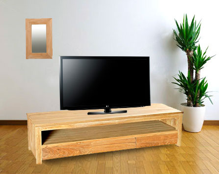 meuble tv en teck