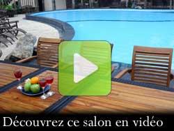 salon de jardin en teck en vidéo