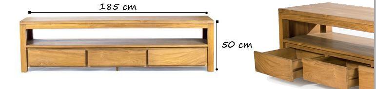 taille meuble tv abey 185 cm