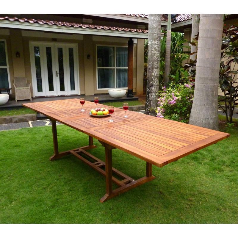 Table grande taille en teck huilé