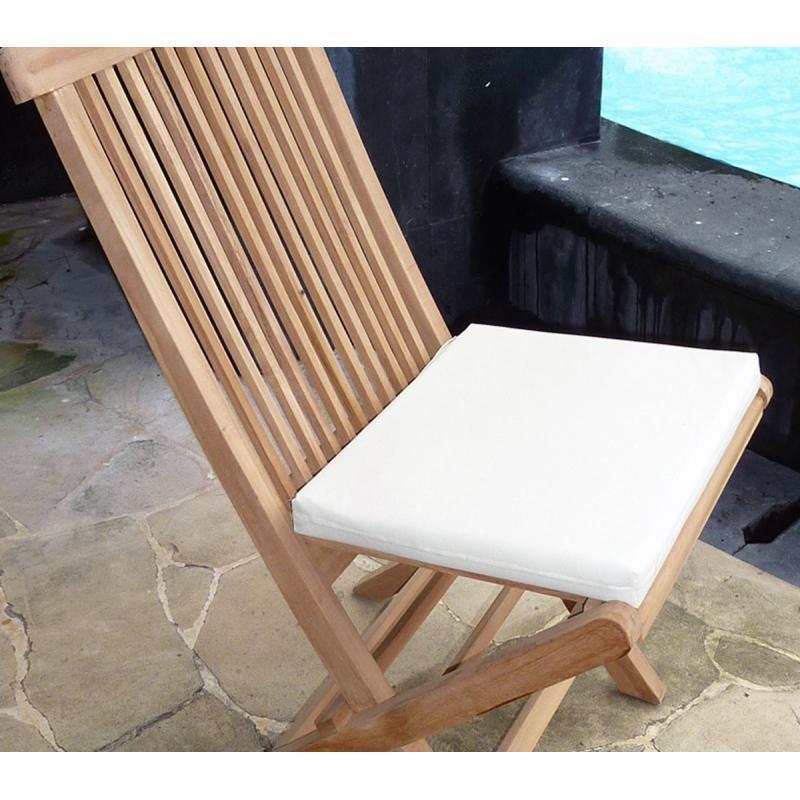 coussins de chaise et fauteuils en teck