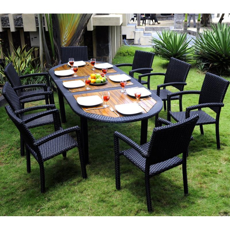 Salon De Jardin En Teck En Promotion. Perfect Table Jardin ...