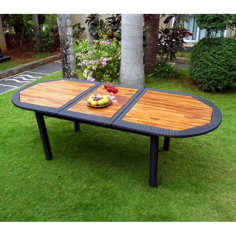 salon de jardin rotin et teck meuble de jardin en promotion. Black Bedroom Furniture Sets. Home Design Ideas