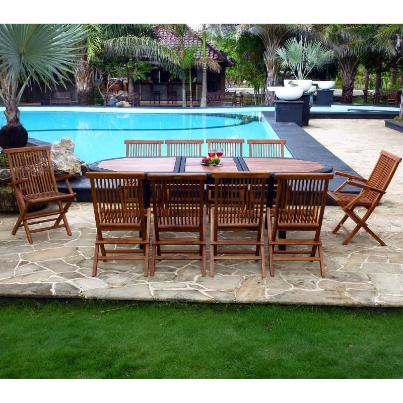 salon de jardin rotin et teck : meuble de jardin en promotion