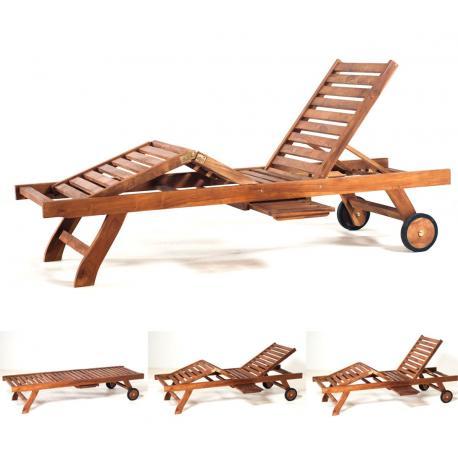 bain de soleil en teck huil transat de jardin. Black Bedroom Furniture Sets. Home Design Ideas