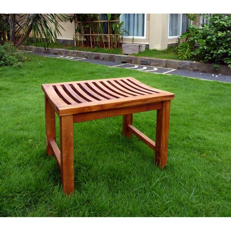 Banc en teck de jardin 60 cm teck huile - Banc en teck pour jardin ...