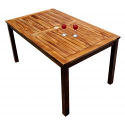Table de jardin en teck huilé - Nias - 150 x 90 cm