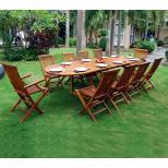 Salon de jardin en Teck huilé - table 3 mètres 10 à 12 places
