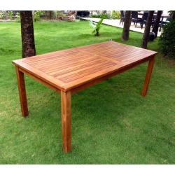 Table de jardin en teck huilé - wood-en-stock