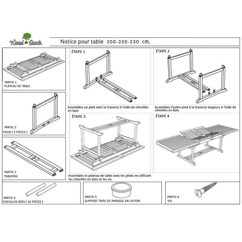 Table en teck en résine tressée de grande taille pour votre jardin