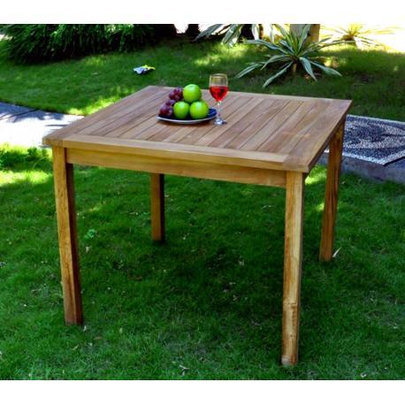 Table de jardin en teck huilée - carrée 90 cm