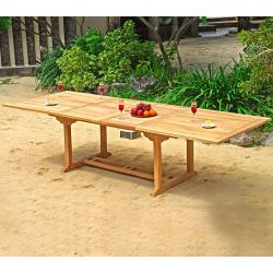 Table en teck brut naturel XXL 12 places : Borneo