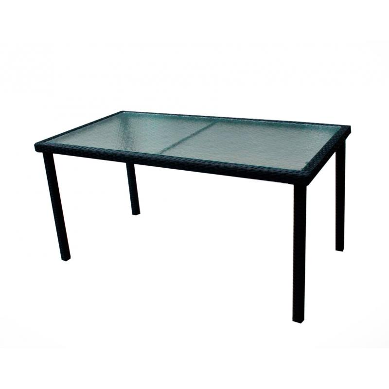 table de jardin rectangle en r sine tress e 140cm wood. Black Bedroom Furniture Sets. Home Design Ideas