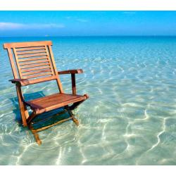 fauteuil de jardin en teck huilé- Garuda - chaise pliante