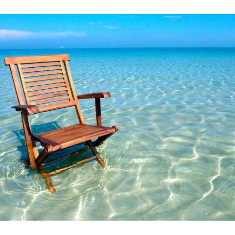 fauteuil de jardin en teck - Hanton - chaise pliante