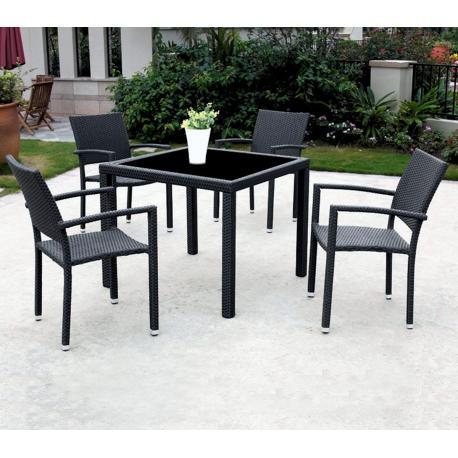 salon de jardin en rsine tresse x4 fauteuils - Salon De Jardin Fauteuil