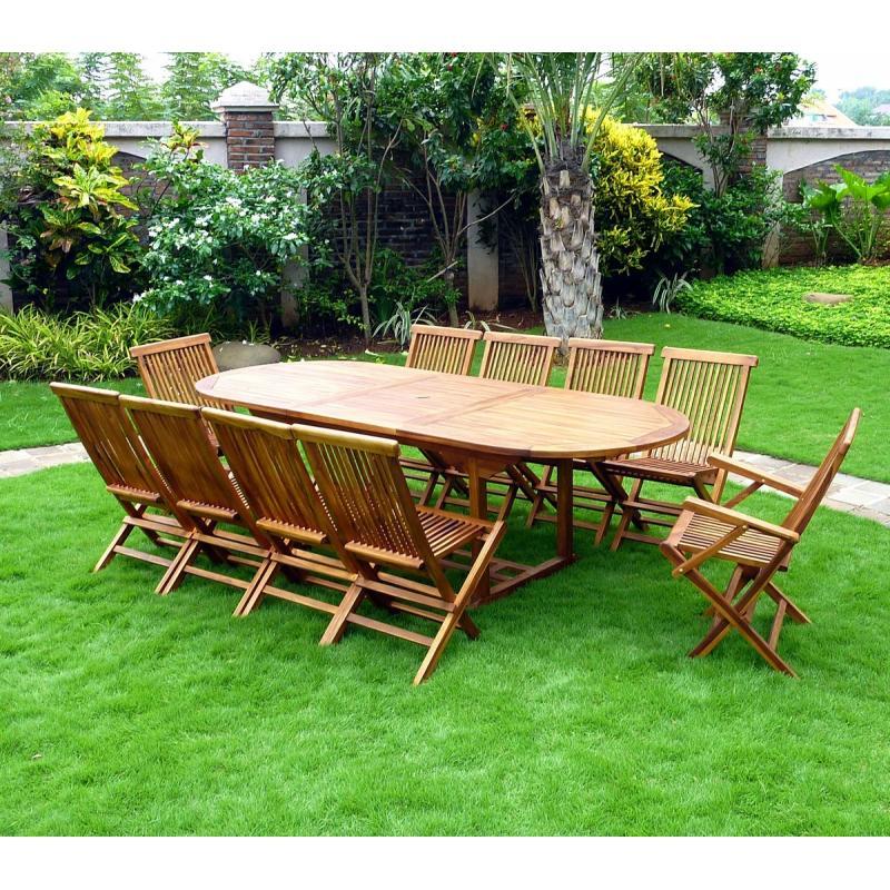 salon de jardin en teck pas cher 10 places. Black Bedroom Furniture Sets. Home Design Ideas