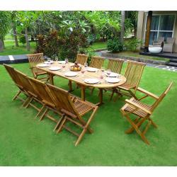 Salon de jardin en teck Huilé mobilier exterieur en solde ...