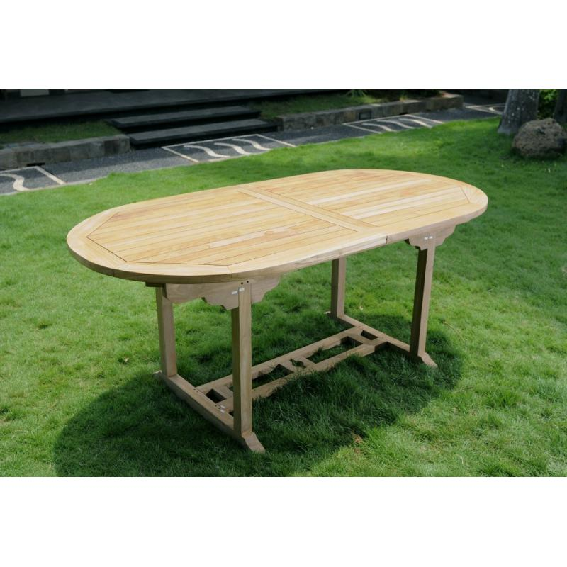 Table de jardin en Teck massif naturel 10 places