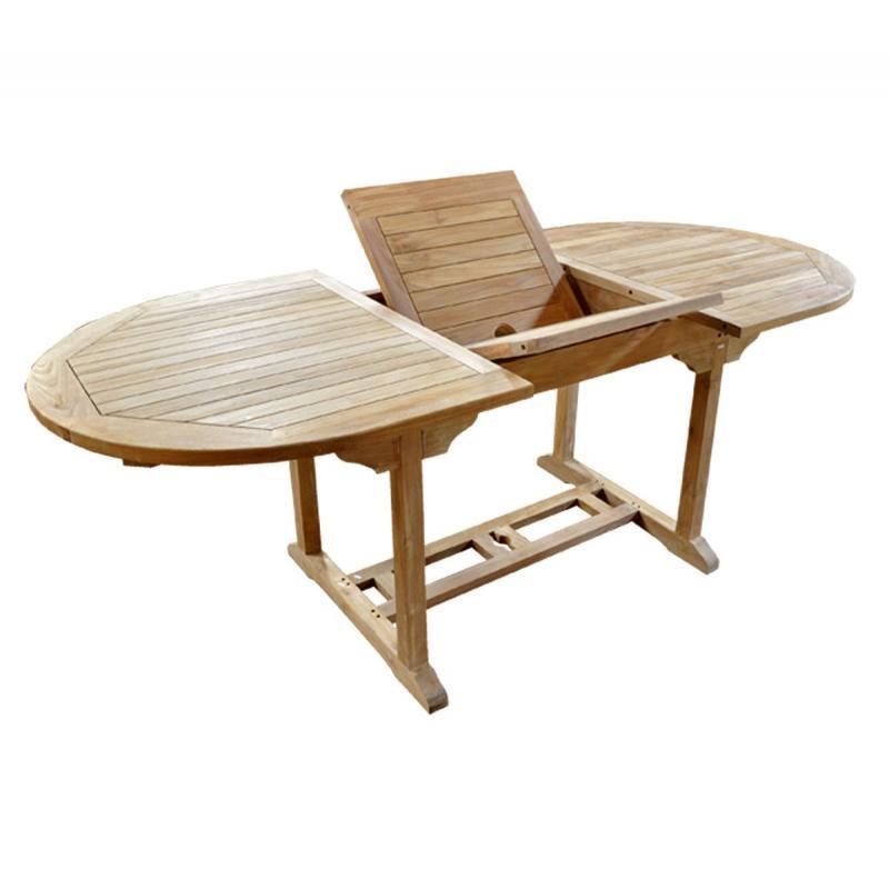 Table en teck ovale 8 personnes espace jardin