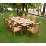 Salon de jardin en teck brut 8-10 places : Flores Raja