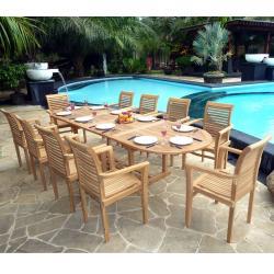 Salon de jardin en Teck brut XXL : Sumatra Raja