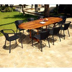 Ensemble de jardin Java-Bora avec table à rallonge 240 cm