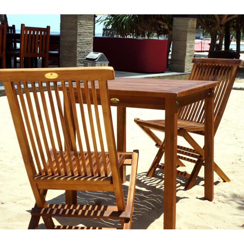 table et chaises de jardin en teck huil salon 2 places wood en stock. Black Bedroom Furniture Sets. Home Design Ideas