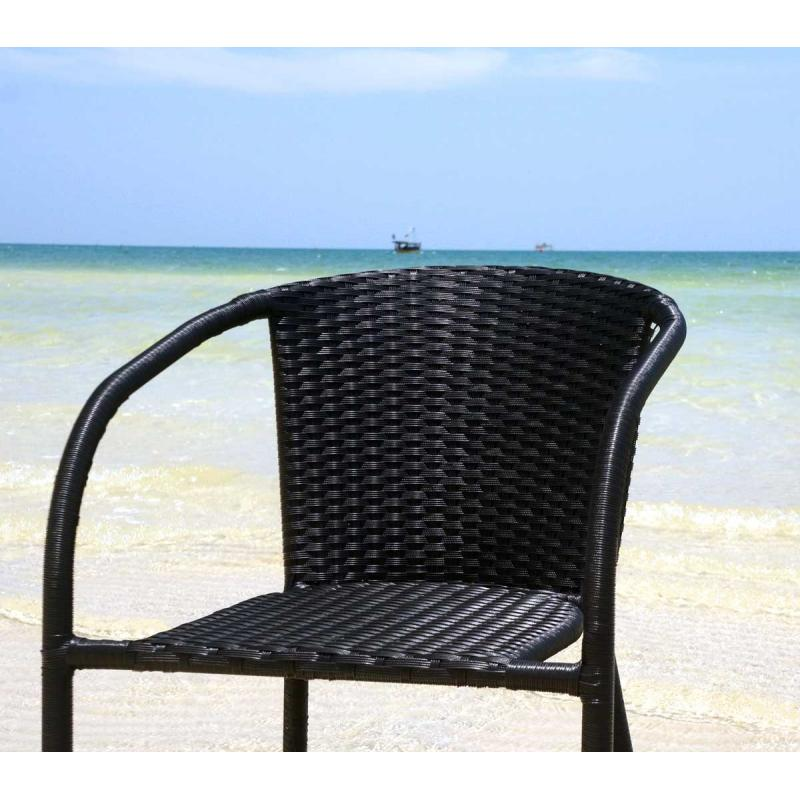 fauteuil de jardin en r sine tress e mod le bora wood en stock. Black Bedroom Furniture Sets. Home Design Ideas