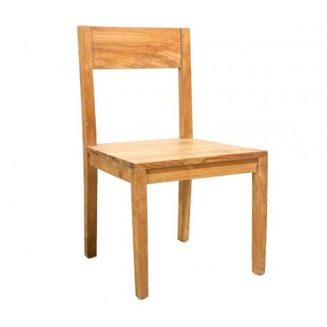 Chaise en teck d'interieur : eyma - teck de grade A