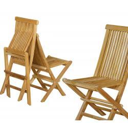 Chaise en teck grade A chaise de jardin pliante Kuta