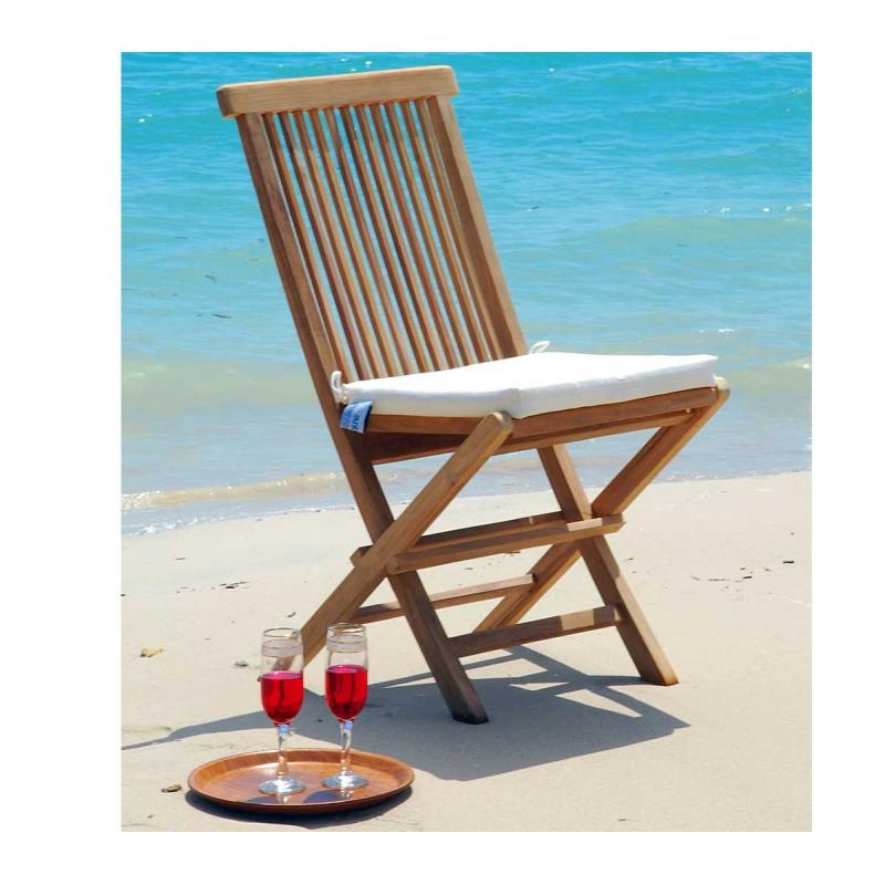 Chaise en teck grade a chaise de jardin pliante kuta wood en stock for Chaise de jardin pliante