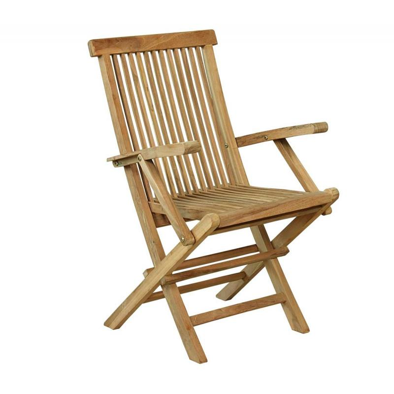 fauteuil pliant de jardin en teck grade a wood en stock. Black Bedroom Furniture Sets. Home Design Ideas